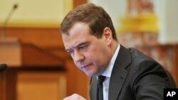 Waziri mkuu wa Russia Dmitry Medvedev.