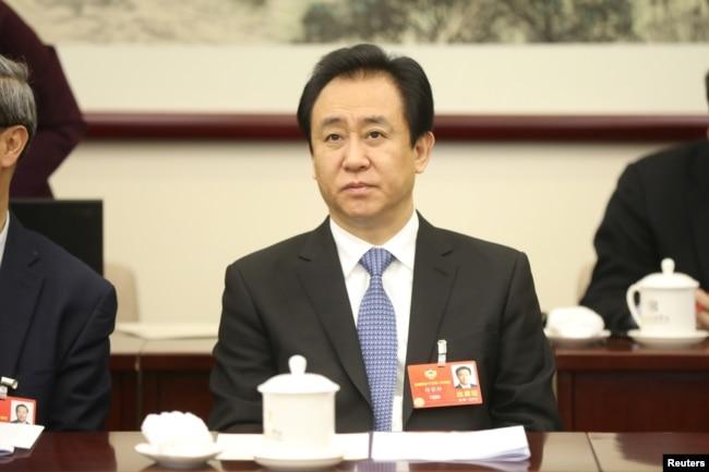 中國恆大集團董事長許家印2018年3月4日在北京出席中國人民政治協商會議的小組討論會。