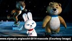 มาสก็อตประจำโอลิมปิกฤดูหนาว 2014 ที่เมือง Sochi