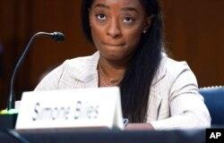 Gimnastičarka Simone Biles svjedoči pred senatskim Odborom za pravosuđe 15. septembra 2021.