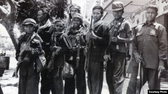 Khmer Rouge Guerrilla soldiers. Photo courtesy of ECCC.
