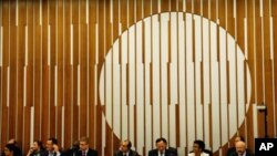 A general view of the opening of an informal ministerial meeting in Geneva, Switzerland, bidding for progress on climate finance, 02 Sep 2010