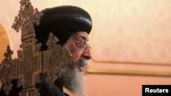 Coptic Pope Tawadros II says Christians felt sidelined in Egypt under Muslim Brotherhood rule.