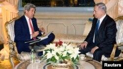 Госсекретарь США Джон Керри встретился в Риме с премьер-министром Израиля Биньямином Нетаньяху. Италия. 15 декабря 2014 г.