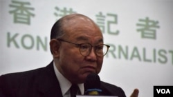 香港特首候選人胡國興 (美國之音特約記者 湯惠芸拍攝)