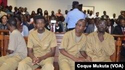 Activistas angolanos em tribunal