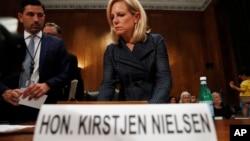 Američka sekretarka za unutrašnju bezbednost Kirsten Nilsen svedoči u Kongresu, 22. maj 2018.