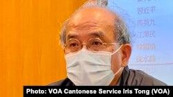 香港民意研究所副行政總裁鍾劍華表示,中國卸任領導人的民望評分高於現任領導人,反映香港人緬懷過去的美好歲月 (攝影:美國之音湯惠芸)
