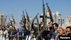 عکس آرشیوی از نظامیان حوثی در یمن