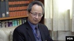 台灣外交部發言人夏季昌 (美國之音申華拍攝)