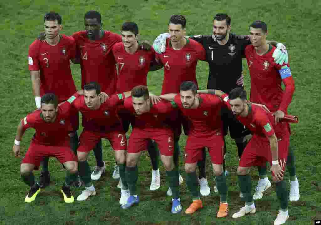 Portugal foi eliminado pelo Uruguai nos oitavos de final. O resultado final foi 2-1