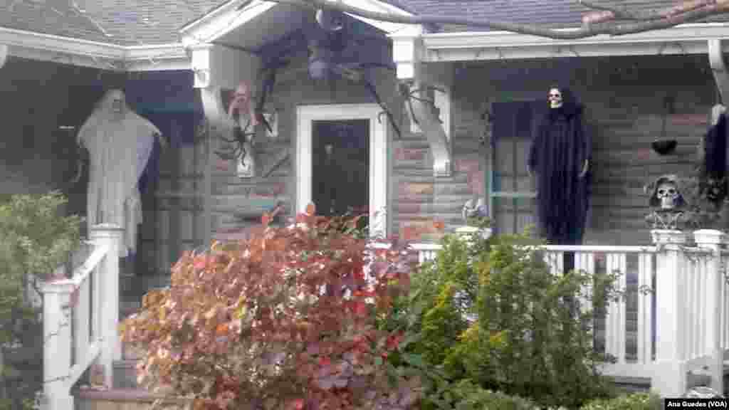 Bairros americanos prepararam-se a rigor para o Dia das Bruxas ou Halloween