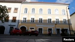 FILE - The house in which Adolf Hitler was born is seen in the northern Austrian city of Braunau am Inn, Sept. 24, 2012.