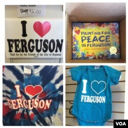 Merchandise from the 'I Love Ferguson' shop. (Victoria Macchi/VOA News)