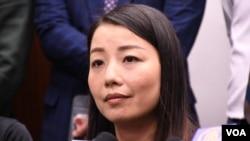 香港民主派前立法會議員劉小麗 (美國之音湯惠芸拍攝)