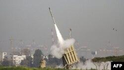Израильская противоракетная система «Железный купол» в действии