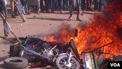 ARCHIVES- Une explosion à Gombe, Nigeria, le 1er février 2015.