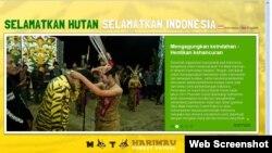 Situs pengawasan hutan 'Forest Patrol' yang dibuat oleh Greenpeace Indonesia.