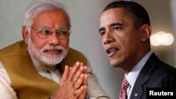 Perdana Menteri India Narendra Modi (kiri) dan Presiden Amerika Serikat Barack Obama (Foto: dok).