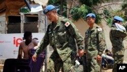 Binh sĩ gìn giữ hòa bình Nhật Bản ở Nam Sudan.