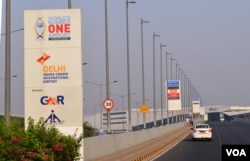 GMR Group, which has built airports and roads including the Delhi International airport, is among infrastructure companies saddled with huge bank loans. (A. Pasricha/VOA)