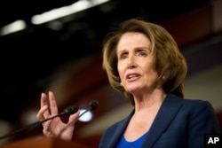 FILE - House Minority Leader Nancy Pelosi on Capitol Hill in Washington.