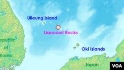 Korea Selatan dan Jepang terlibat dalam sengketa atas Liancourt Rock, yang terletak di perbatasan laut kedua negara.