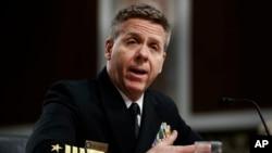필립 데이비슨 미 태평양사령관 지명자가 17일 상원 군사위원회에서 열린 인준 청문회에 출석했다.