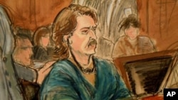 In this courtroom sketch, former Soviet military officer Viktor Bout in New York Federal Court (File Photo).