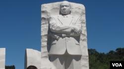 馬丁.路德.金雕像(美國之音楊晨拍攝)