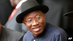 Goodluck Jonathan, president of Nigeria, in Nairobi, Kenya, Dec. 12, 2013.