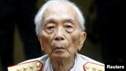 FILE - General Vo Nguyen Giap is seen in an August 4, 2008, photo.