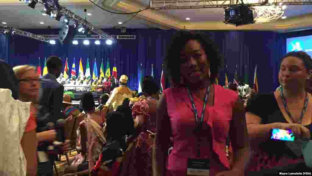 Lizandra Cabral, une participante du YALI 2015, Washington, 3 août 2015.