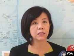 台湾在野党民进党立委叶宜津(美国之音张永泰拍摄 )