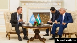 UN chief Uzbekistan visit