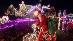 성탄절 밤을 화려하게 밝히는 '불빛 축제'