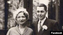 მშობლების ზეინაბ კეიდიასა და ლევან ზურაბიშვილის ქორწილი პარიზში, 1950