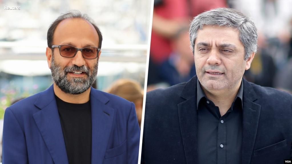 اصغر فرهادی (چپ) و محمد رسولاف. آرشیو