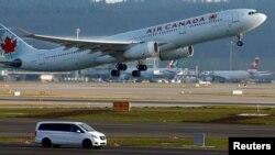 Máy bay của hãng hàng không Air Canada.