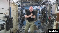 NASA Astronaut Scott Kelly completes the half way point of the 342-day mission on the International Space Station. He and Mikhail Kormienko are participating in many life science experiments during their spaceflight.