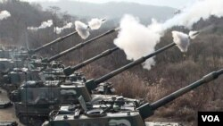 Salah satu latihan militer yang dilakukan oleh Korea Selatan dalam bersiap menghadapi kemungkinan serangan dari Korea Utara.