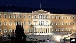 Le Parlement, Place Syntagma, Athènes (AP)