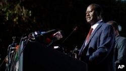 L'opposant Raila Odinga annonce son désaccord avec les résultats de l'élection auprès de la Cour Suprême, le 16 août 2017.