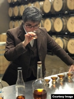 Nancy Fraley tastes whisky for the Joseph A. Magnus distillery in Washington, D.C.