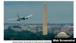 Một máy bay 787-9 Vietnam Airlines mua của Boeing, Mỹ