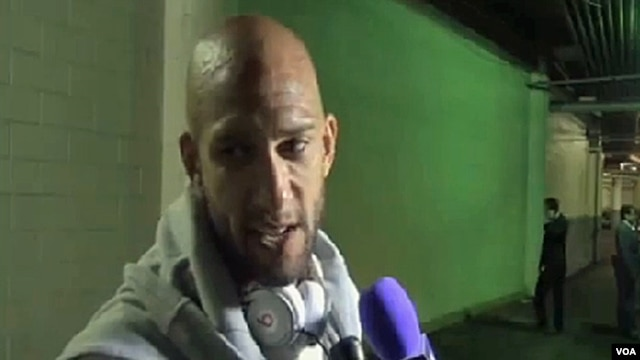 U.S. goalkeeper Tim Howard (VOA - M. Lipin).