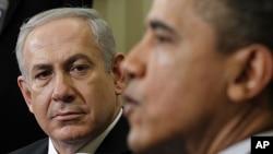 Tổng thống Obama gặp Thủ tướng Israel Benjamin Netanyahu tại phòng Bầu Dục của Tòa Bạch Ốc ngày 5/3/2012