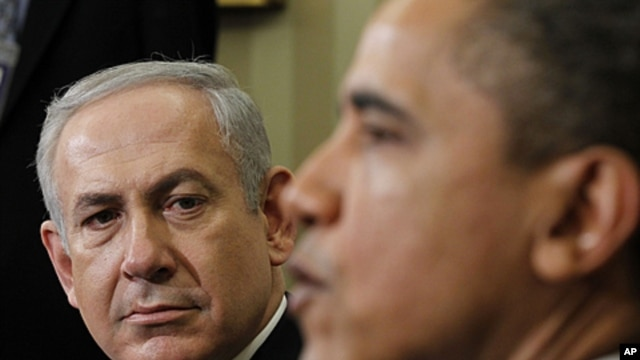 President Barack Obama meets with Israeli Prime Minister Benjamin Netanyahu in the Oval Office of the White House in Washington, March 5, 2012.