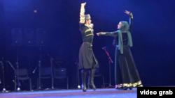 اجرای رقص در هجدهمین جشنواره بین المللی فرهنگ و هنر «بویوک چکمجه» - استانبول، ترکیه