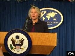 美國國務院負責東亞事務的代理助卿董雲裳。(美國之音莉雅攝)